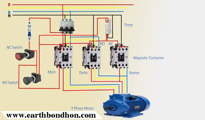 3 Phase Star Delta Motor Wiring Diagram Earth Bondhon