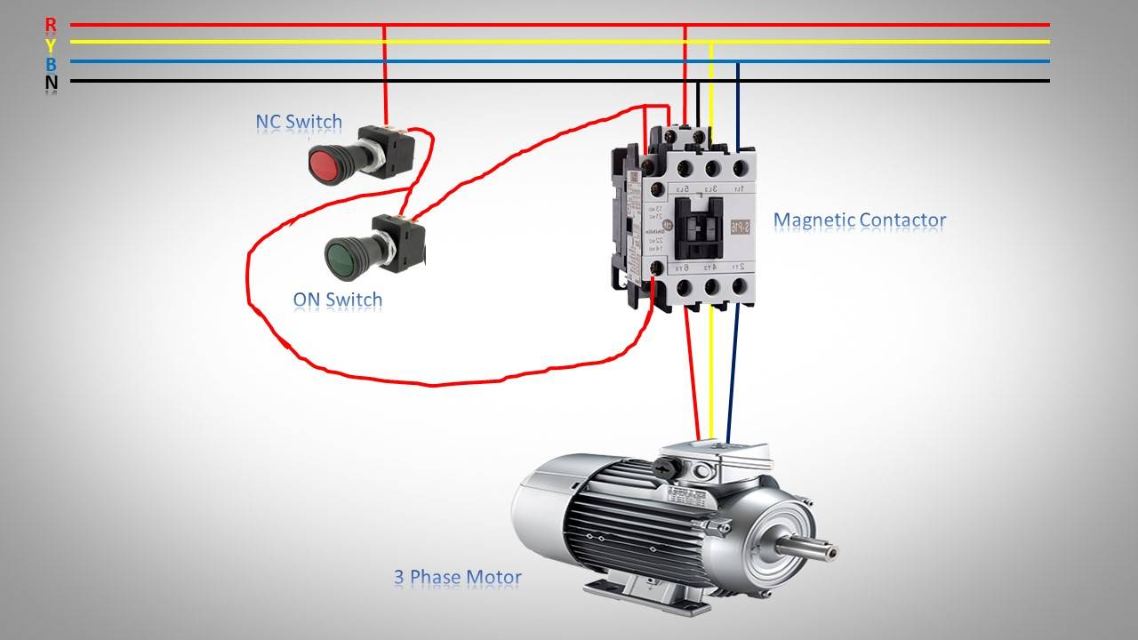 3 Phase Motor Star Connection Earth Bondhon