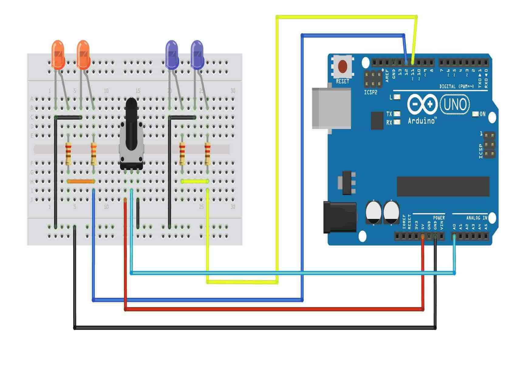 Police-Strobe-Light-Use-Arduino-Projects