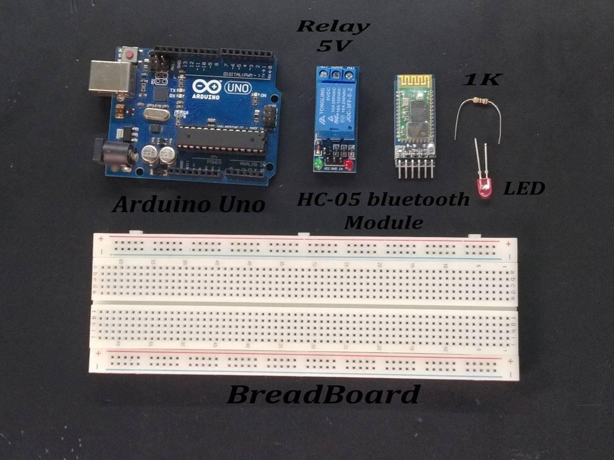 Arduino Bluetooth Controller Lamp with relay module | Earth Bondhon