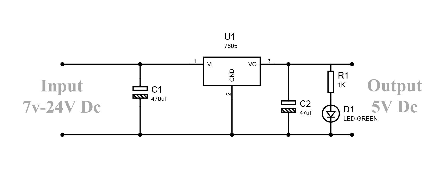How To Convert 9v To 5v Regulator Circuit