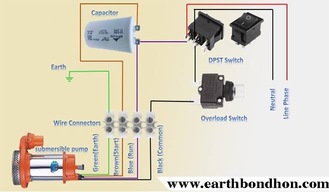 Submersible Pump Control Box Wiring Single Phase Earth Bondhon