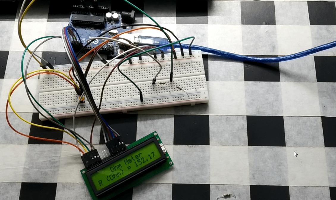 Arduino ohm Meter Show LCD display   Earth Bondhon